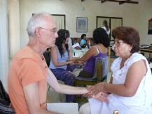 recibiendo el masaje