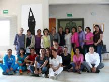 La Maestra Pati Díaz, la Dra. Luci Cordero, Dir. del CICSH y los alumnos que asistieron al Curso.