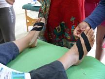 vendaje de corrección en pies
