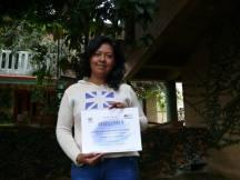 Entrega de Diplomas. Alumna Gladys Canseco