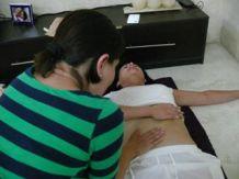 Los alumnos en la practica.